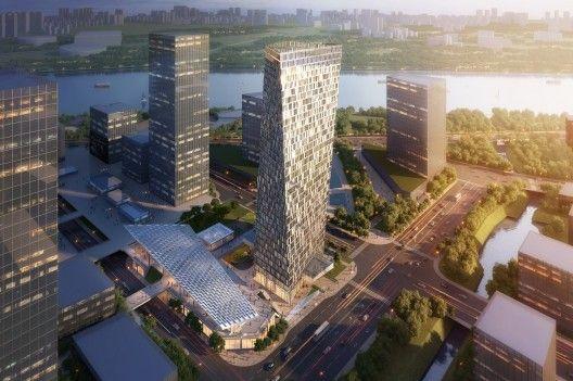 Xuhui Binjian Media City 188S-G-1 Tower and Podium Winning Proposal / Aedas