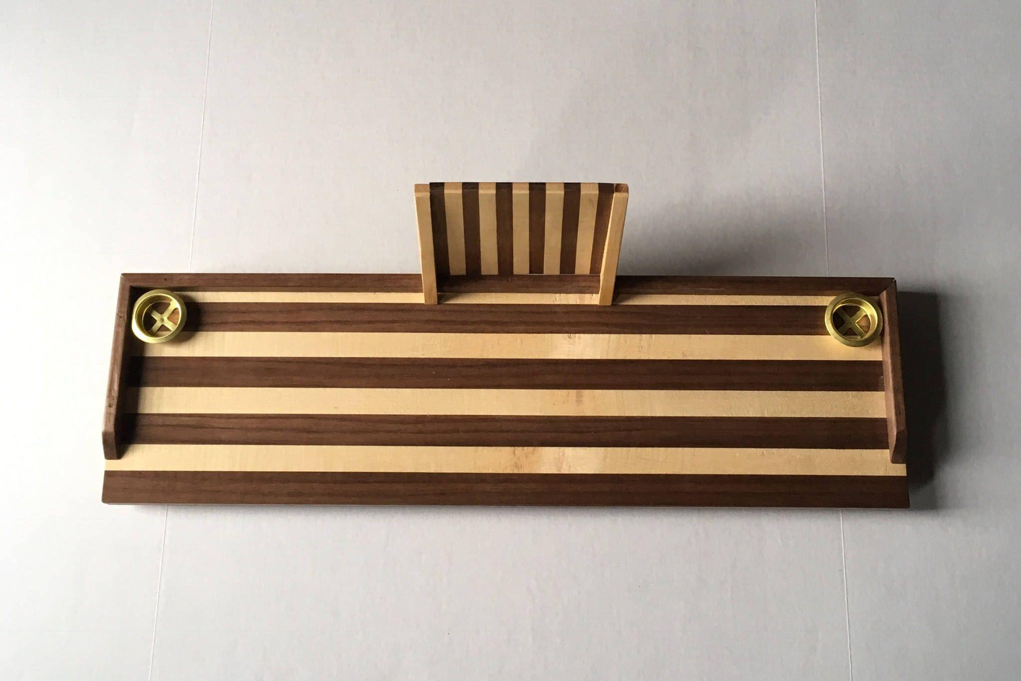 Striped walnut + sugar maple wood bath tray, bath caddy, adjustable tablet holder, Mother's Day gift, gift for her, bathtub tray, spa, bath by RusticPineCreation on Etsy https://www.etsy.com/listing/530153247/striped-walnut-sugar-maple-wood-bath