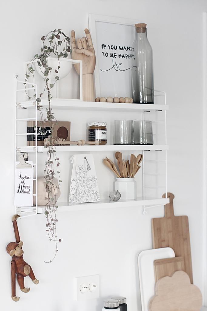 string pocket wandregal regale wohnung k che string. Black Bedroom Furniture Sets. Home Design Ideas