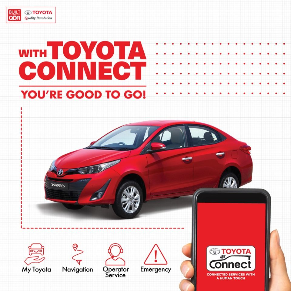With Toyota Connect You're Good To Go! Toyota