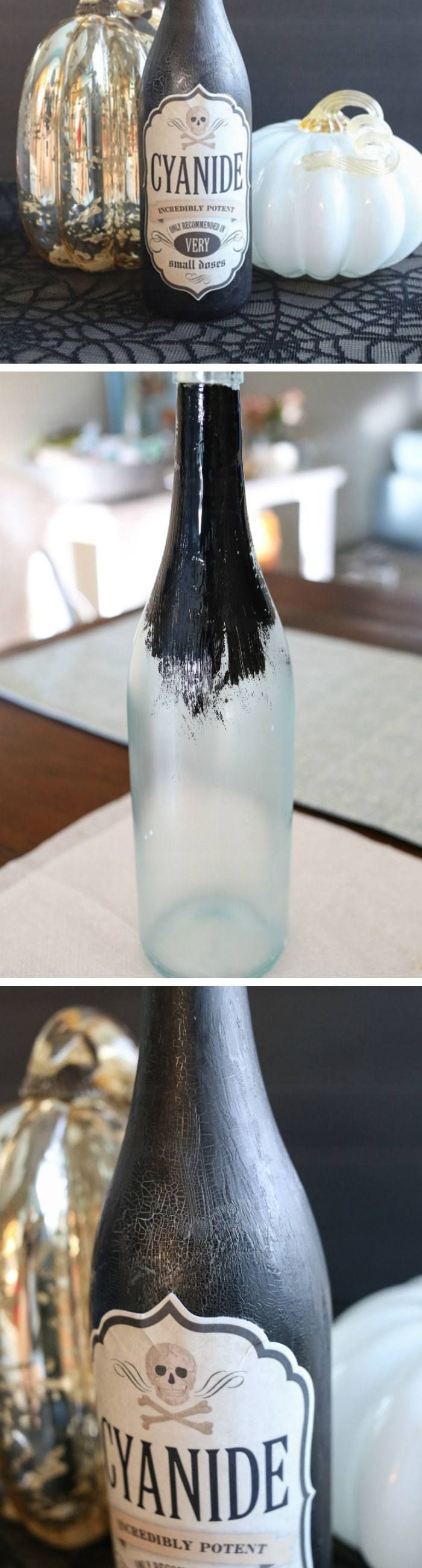 DIY Halloween Poison Bottle Click Pic for 20 DIY Halloween - Inexpensive Halloween Decorations