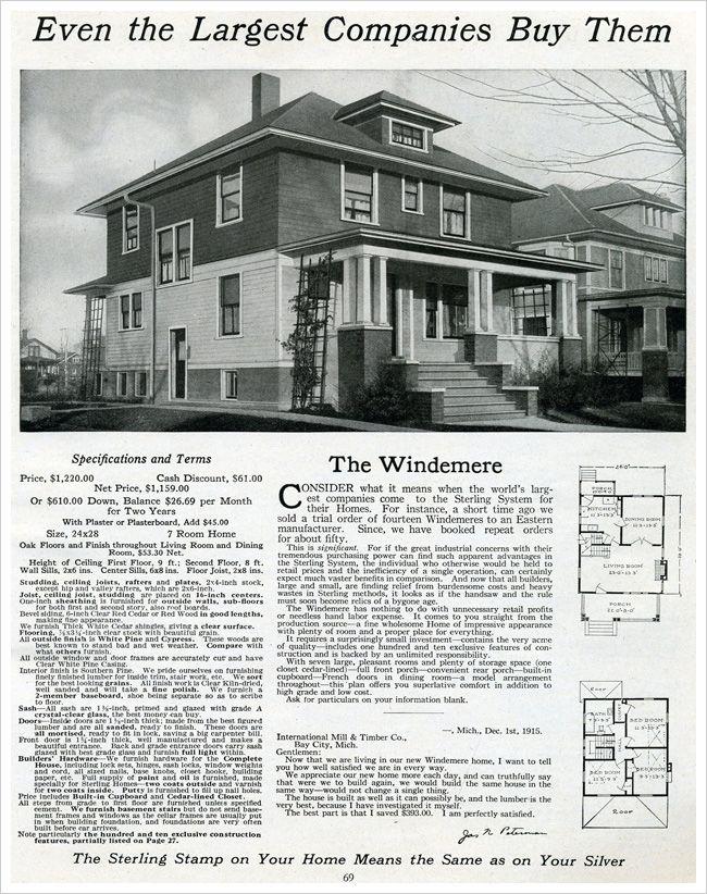 1916 Foursquare Plan Architectural House Plans Vintage House Plans House Plans