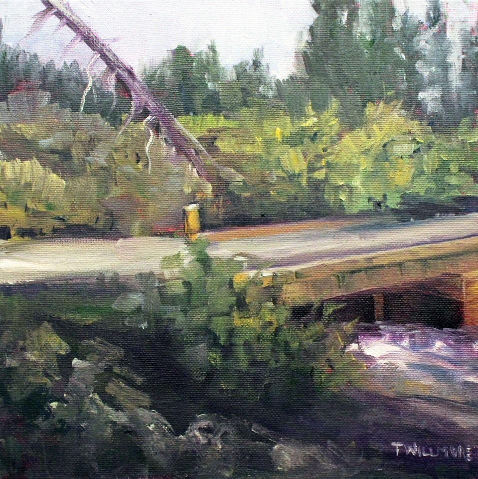 South Boone Creek. 12 x 12, oil on canvas, plein air