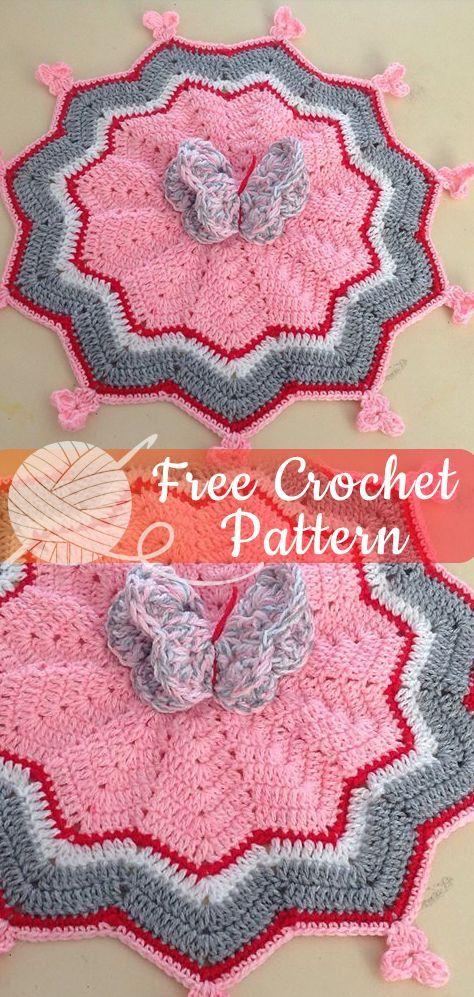 Butterfly Snuggle Rug – Free Crochet Pattern #crochet #freecrochetpattern #crochetamd #crochetlove #diy #tutorialcrochet #videocrochet #pattern #crochetsecurityblanket