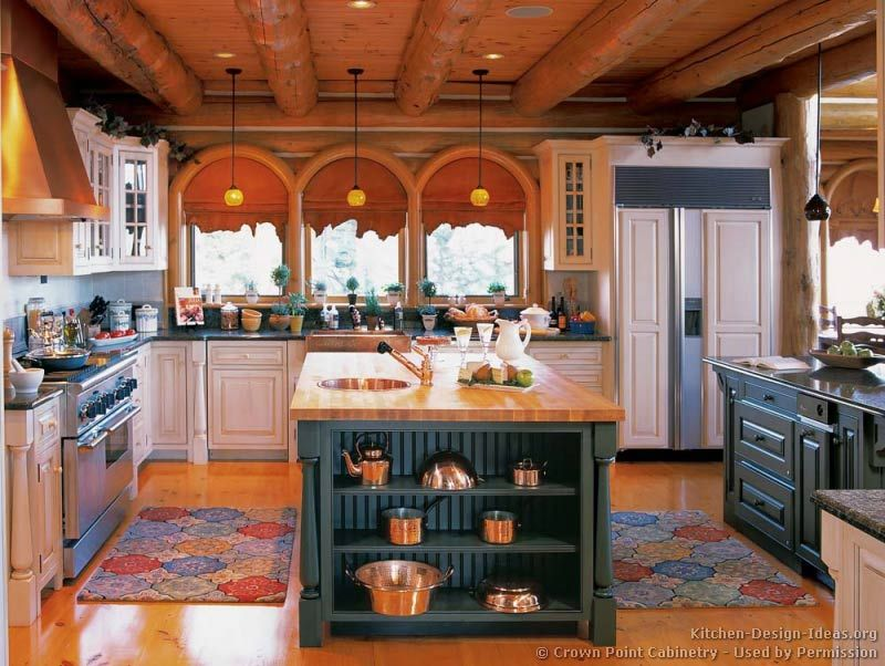 Pictures Of Kitchens Traditional Green Kitchen Cabinets Log Home Kitchens Kitchen Design Home Kitchens