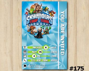 Free Printable Skylander Trap Team Invitations