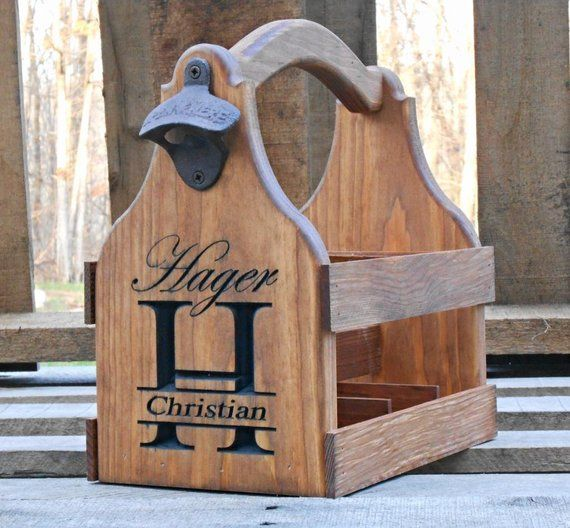 Beer tote beer carrier personalized wedding gift for Mobilia wedding