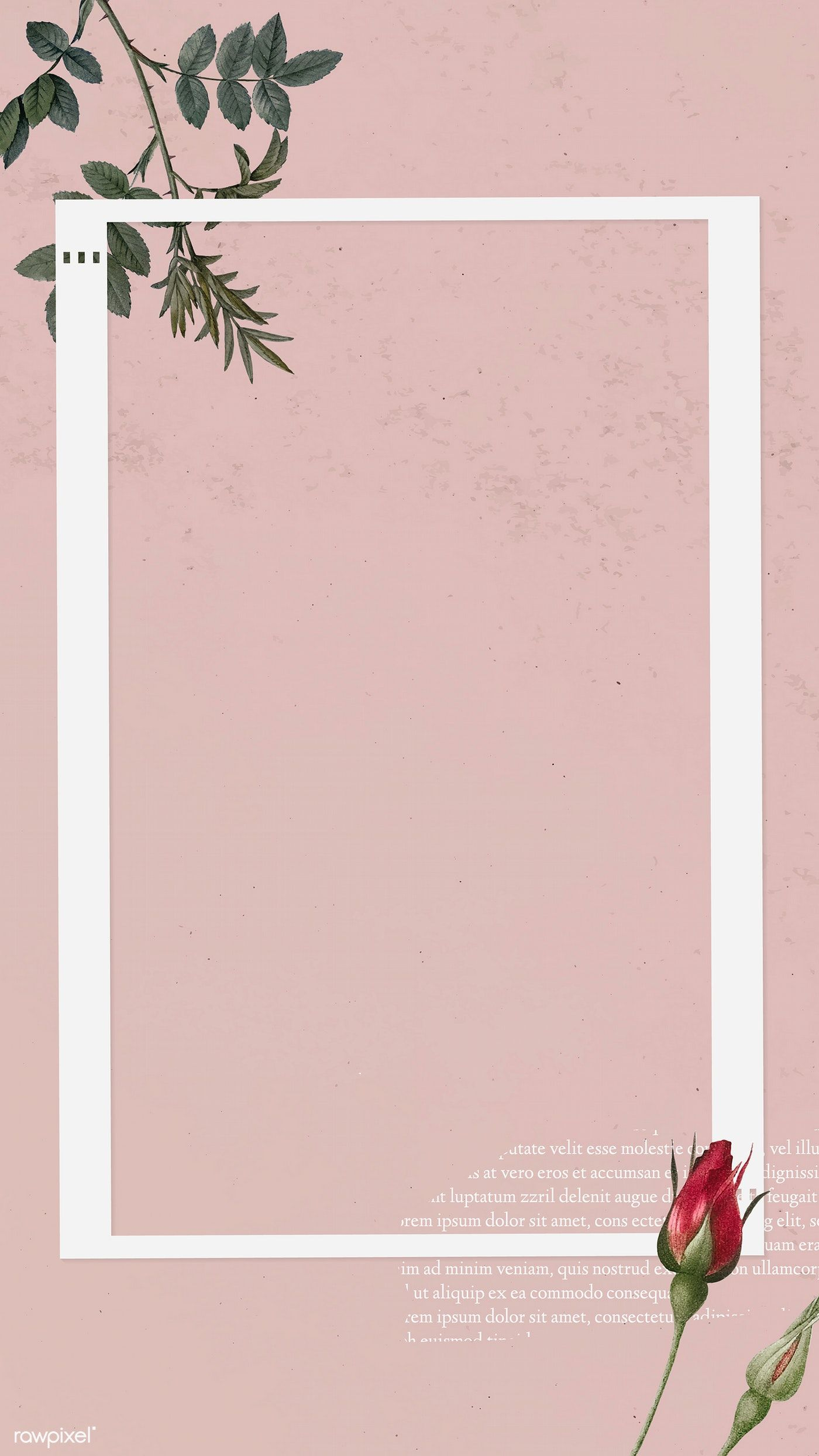 Download Premium Vector Of Blank Collage Photo Frame Template On Pink Pink Wallpaper Backgrounds Flower Background Wallpaper Frame Template