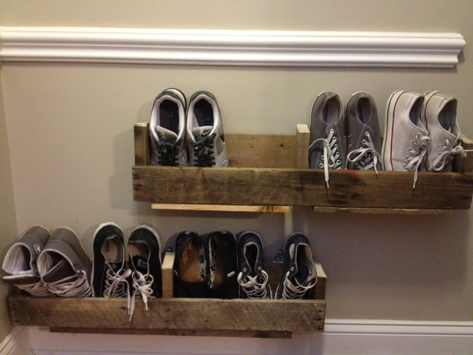 diy wall mounted shoe rack ideas make this pinterest