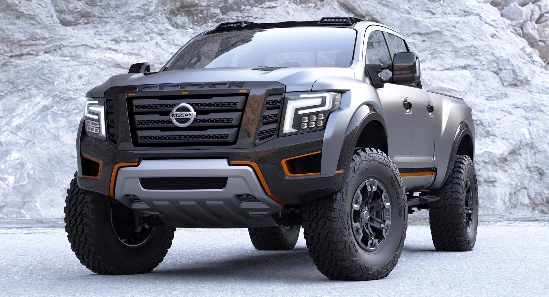 We are live from the detroit auto show where nissan has staged the world premiere of the aggressive 2016 titan warrior concept