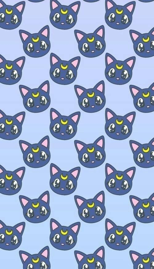 Imagem de cat, wallpaper, and sailor moon