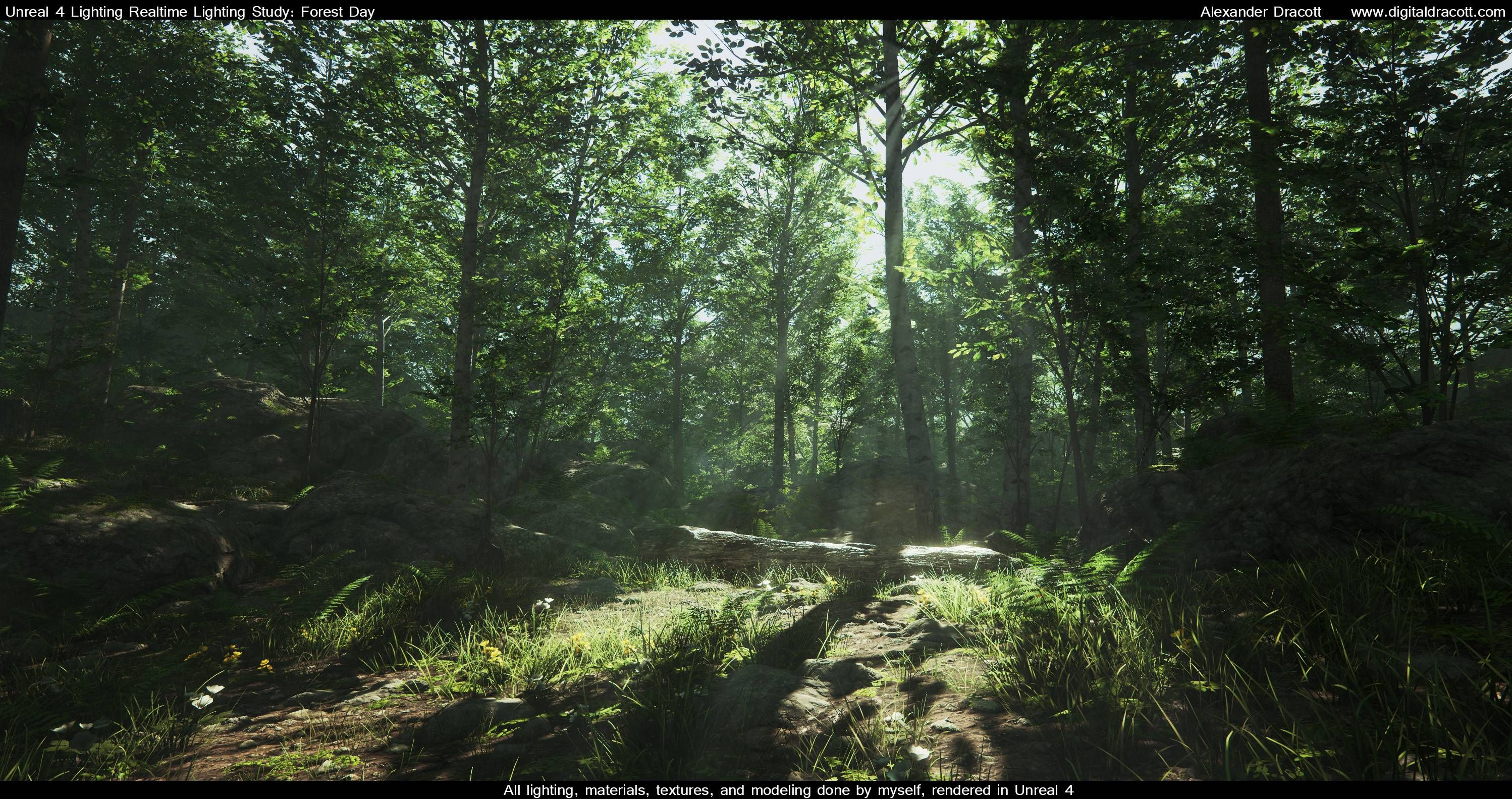 Forest lighting study polycount forum game art enviro forest lighting study polycount forum mozeypictures Choice Image