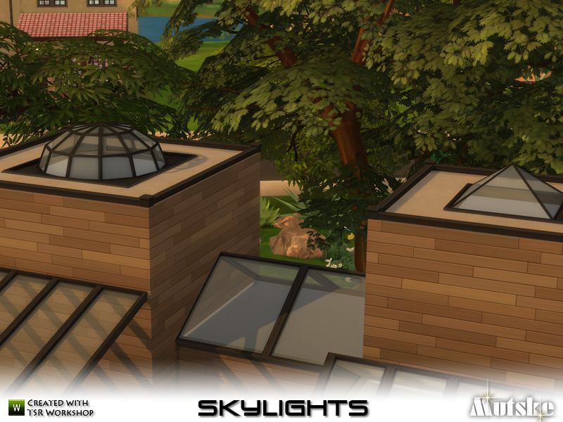 Skylights There Are Several Different Types Of Skylights In This Set Use Bb Moveobjects To Place The Skylights Also 3 Sk Sims 4 Cc Furniture Skylight Sims
