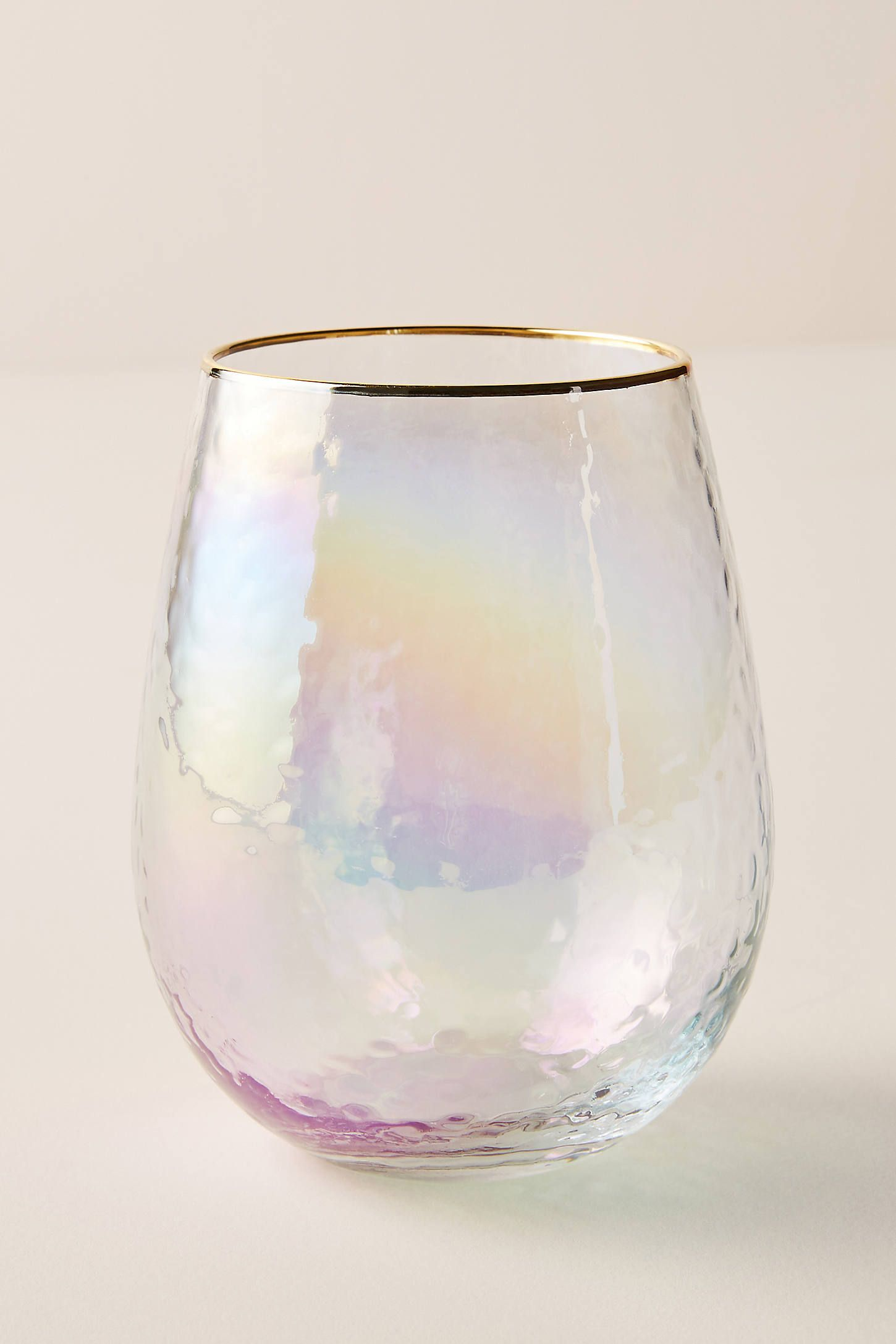 Lustered Stemless Wine Glasses, Set of 4