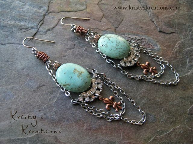 Earrings Everyday: October 2013 from Kristy's Kreations