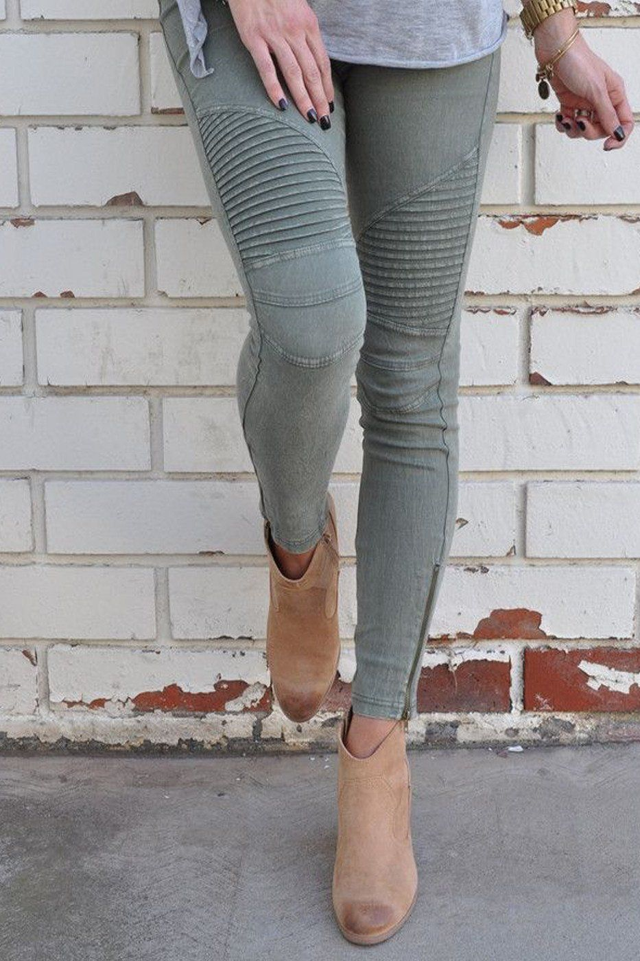 e20666ca0a7a6 Uptown Moto Leggings - Olive | • BUY ME THESE • | Fashion, Jeggings ...