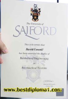 Where Can I Get A Original University Of Salford Diploma With