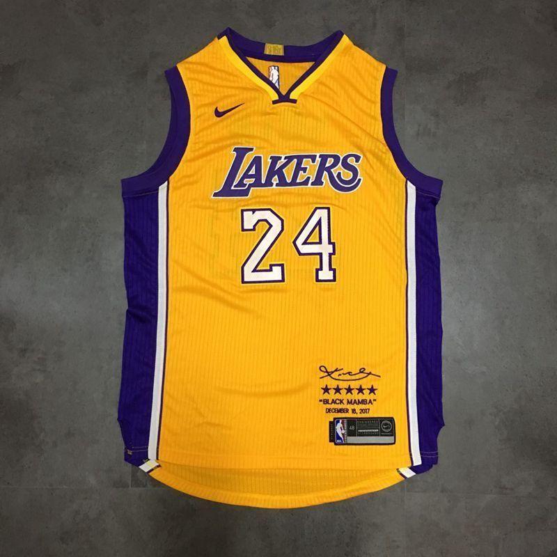 """/"""" Black Mamba /"""" #24 Kobe Bryant Stitch Sewn Los Angeles Lakers Jersey"""