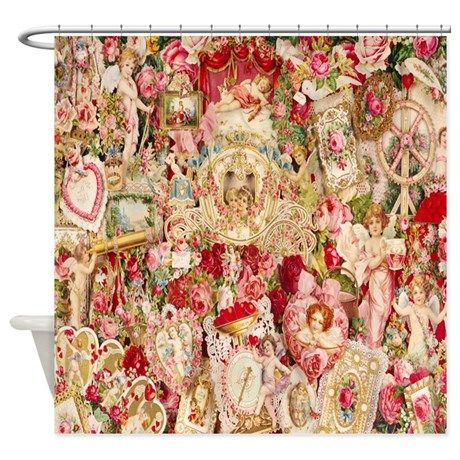 Victorian Love Shower Curtain Amazon Victorian Valentines