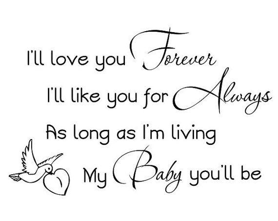 i ll love you forever