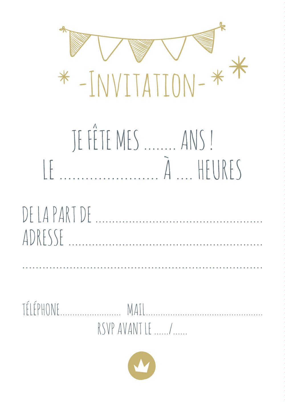 carte d 39 invitation pour anniversaire joli ours par. Black Bedroom Furniture Sets. Home Design Ideas