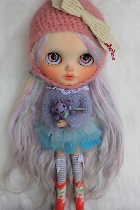 Custom Blythe by Meadowdolls, Photo and doll belongs to Alonso Stella #airfreshnerdolls