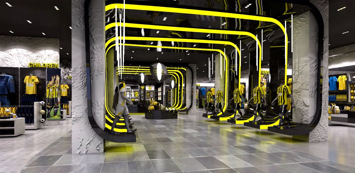 Entry statement for the Ittihad football store Retail