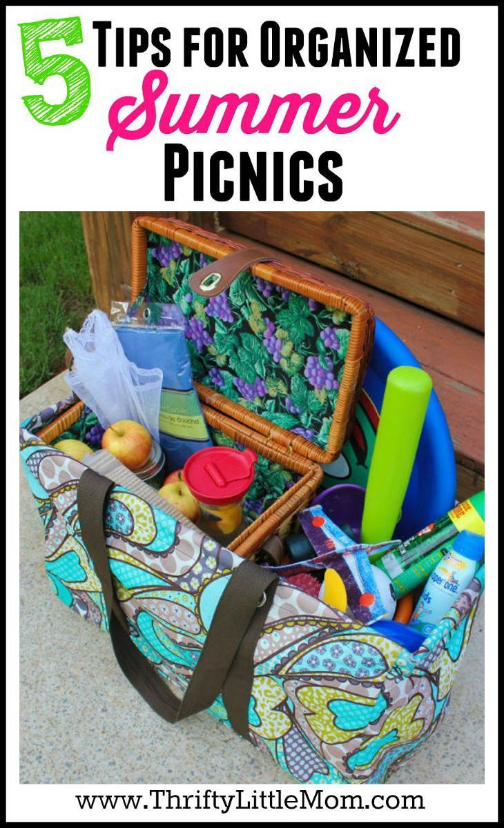 5 Tips For Organized Summer Picnics #familypicnicfoods 5 Tips for Organized Summer Picnics.  Need some picnic ideas?  What about picnic food suggestions? Check out these tips for having a super organized and clean family picnic outing! #familypicnicfoods
