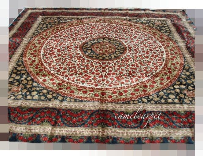 Handmade Persian Carpet Size 12x12 Foot Material Silk Design Central Medallion Craft Hand Kontted Coco Ca Carpet Size Oriental Persian Rugs Rugs On Carpet