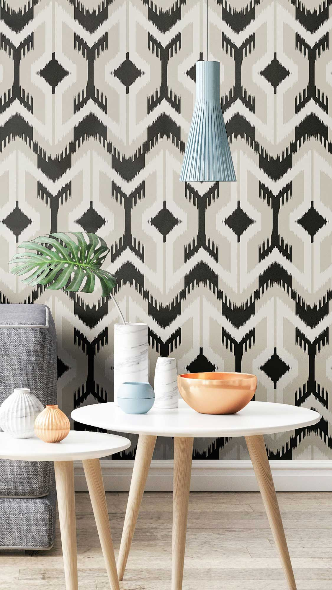 Black And White Contemporary Geometric Peel And Stick Fabric Removable Wallpaper 2338 Removable Wallpaper Geometric Removable Wallpaper Accent Wall Decor