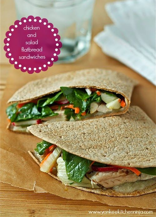 Chicken and salad sandwiches -- healthy and fresh!   www.yankeekitchenninja.com