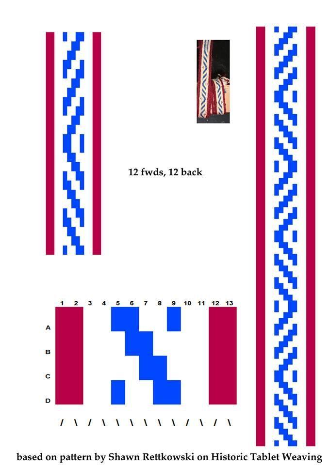 znalezione obrazy dla zapytania easy card weaving pattern