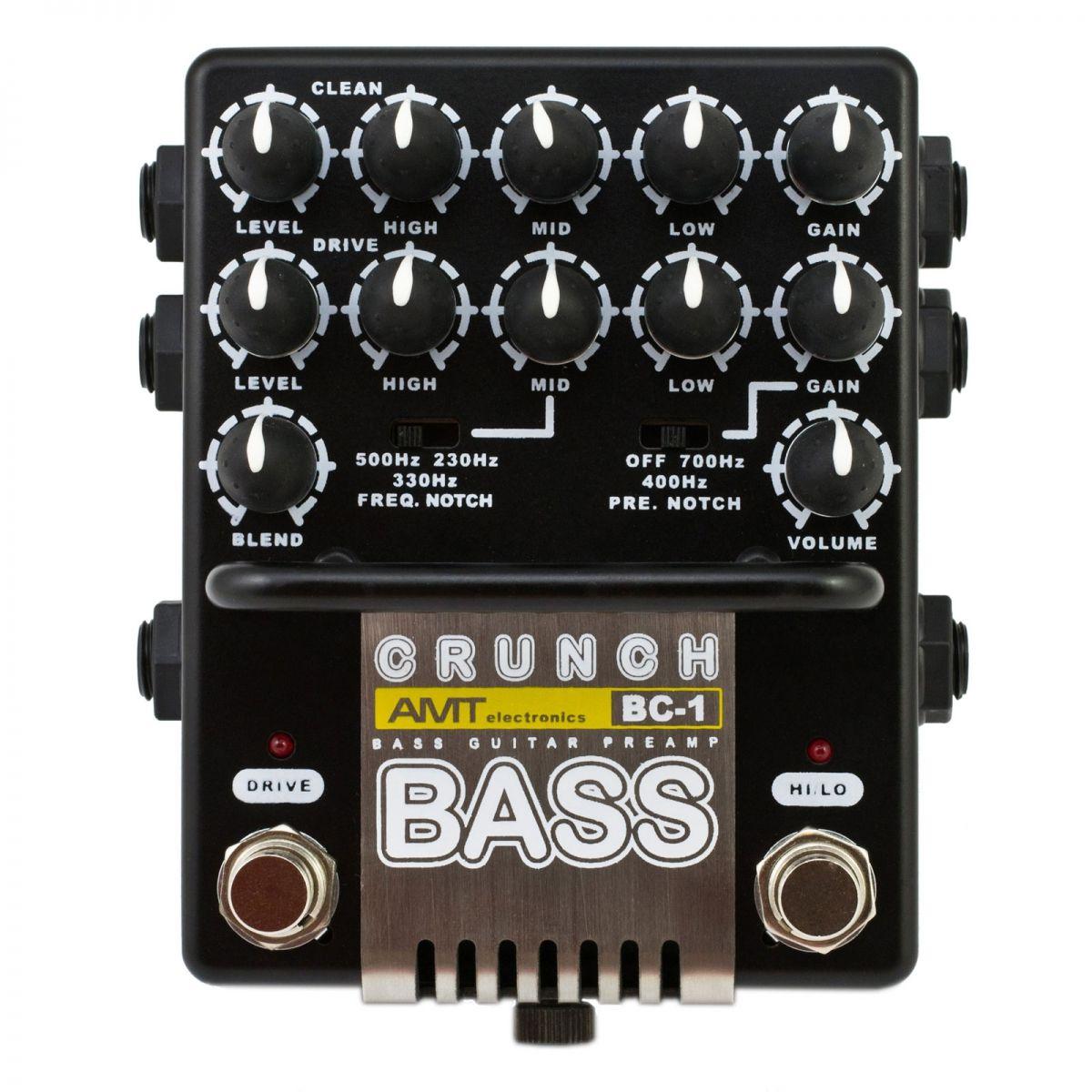 Amt Electronics Bc 1 Bass Crunch 2 Channel Jfet Bass Guitar Preamp