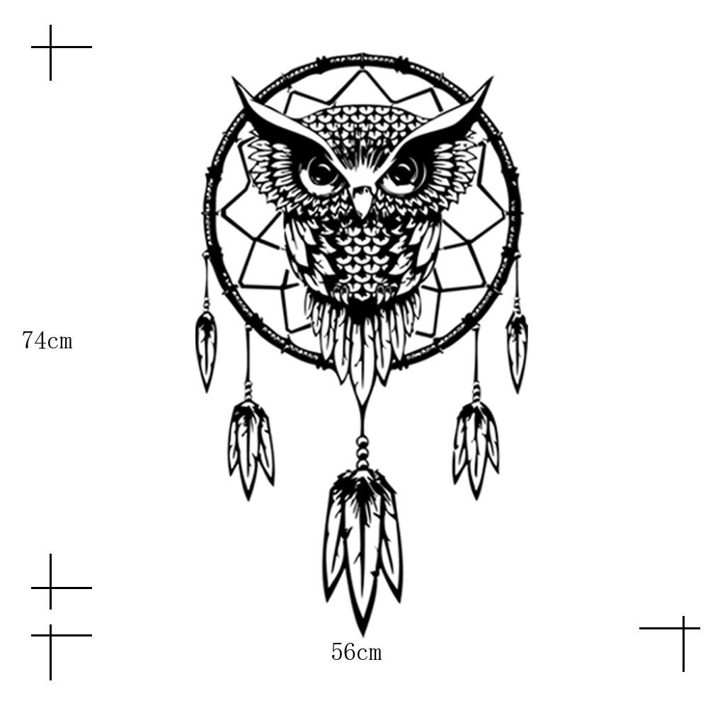 funlife indian dream catcher decor wall sticker cute owl pics photos funlife modern wall sticker wall decal quote