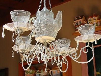 Teacups And Teapot Chandelier I M In Loveee