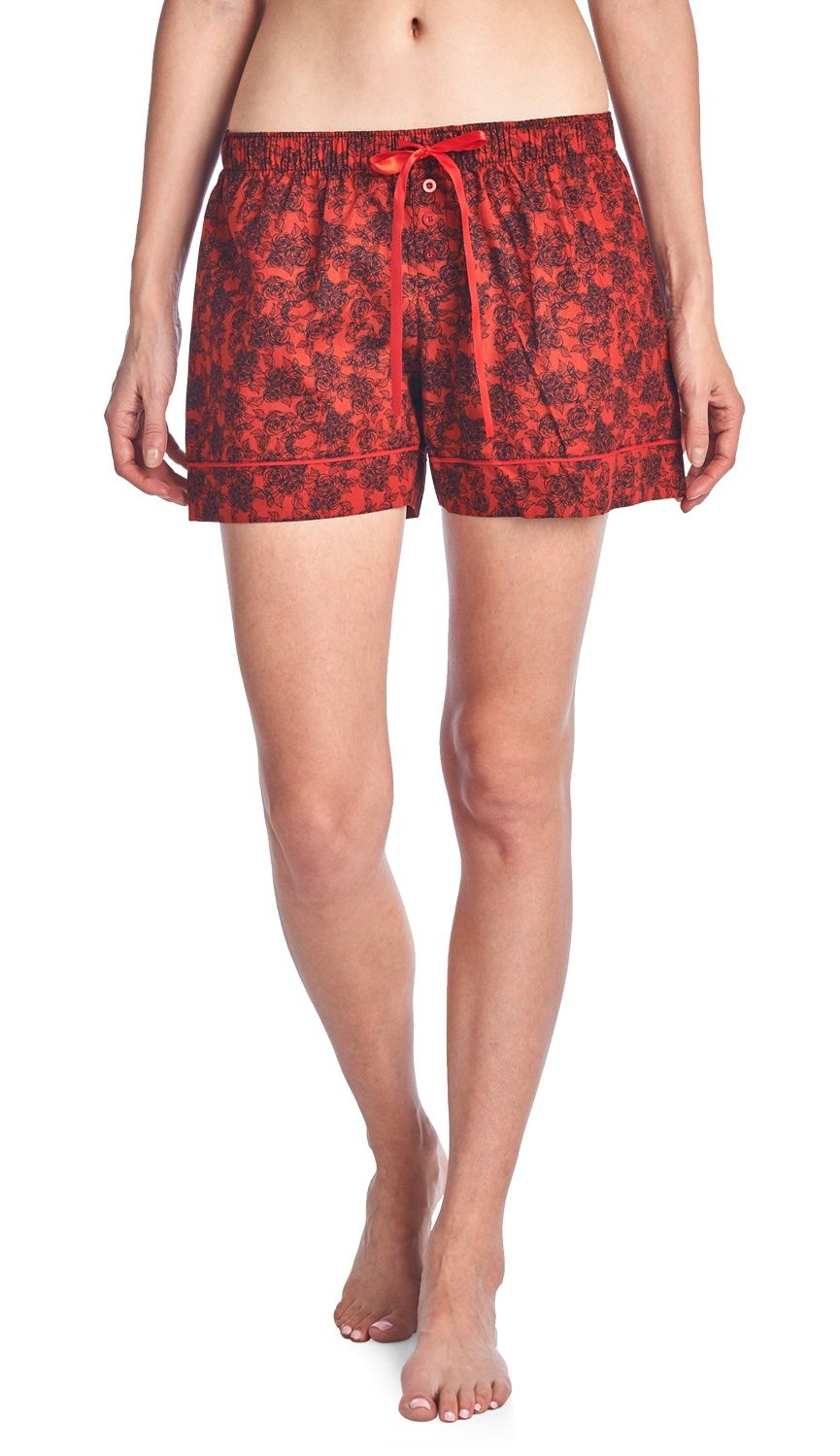 Casual Nights Women's 2 Pack Cotton Woven Lounge Boxer