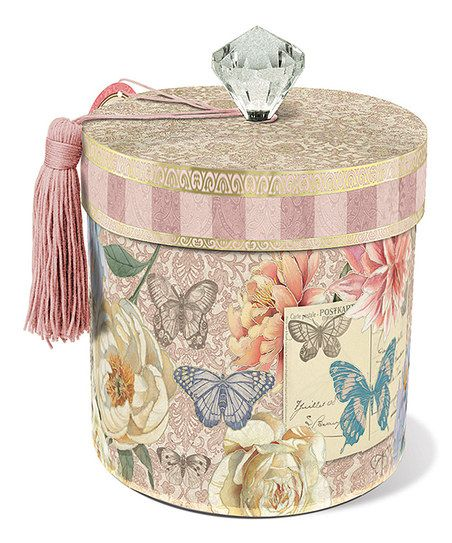 Punch Studio Mauve Butterfly Toilet Tissue Holder | zulily