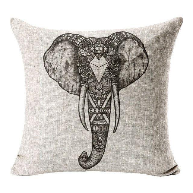Skull Cushion Throw Pillow Home Decorative Pillows Cushion Cotton Beauteous Indian Style Decorative Pillows