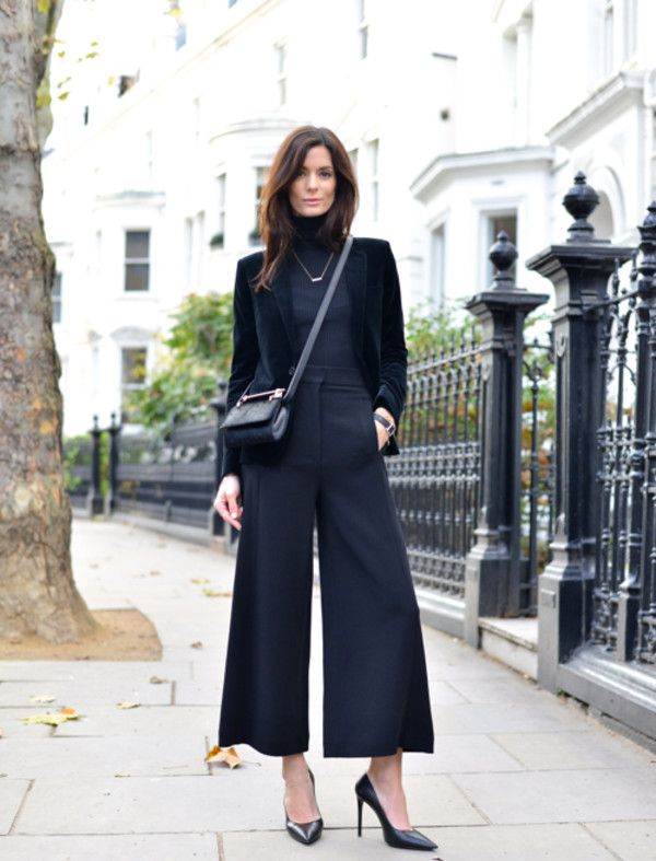 5e8a273c992 northern light blogger shoes culottes blazer office outfits turtleneck  pants jacket bag jewels
