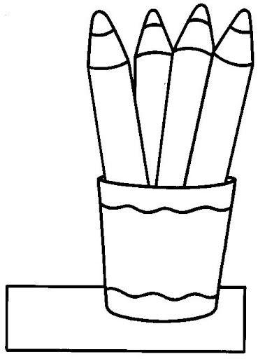 Manualidadesconmishijas Cubilete De Lapices Para Colorear O Collage Imagenes Para Colorear Ninos Utiles Escolares Animados Dibujos Faciles Y Divertidos