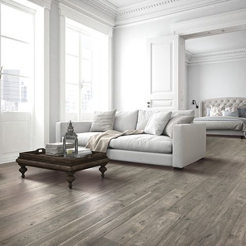 silvermist oak natural authentic laminate floor grey color oak wood finish 12mm 1 - Laminate Flooring Ideas Living Room