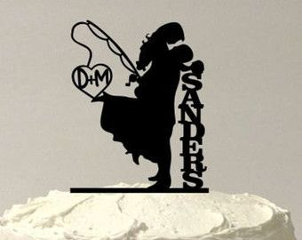 Personalized Rustic Wood Wedding Cake Topper By Plasticsmith