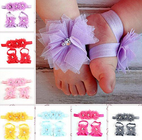 Xife® 7 Pair Girl's Headbands Baby Lace Pearl Flower and Cute Barefoot Belt XiFe http://www.amazon.com/dp/B00XPMND8G/ref=cm_sw_r_pi_dp_-XHawb1WXCHSE