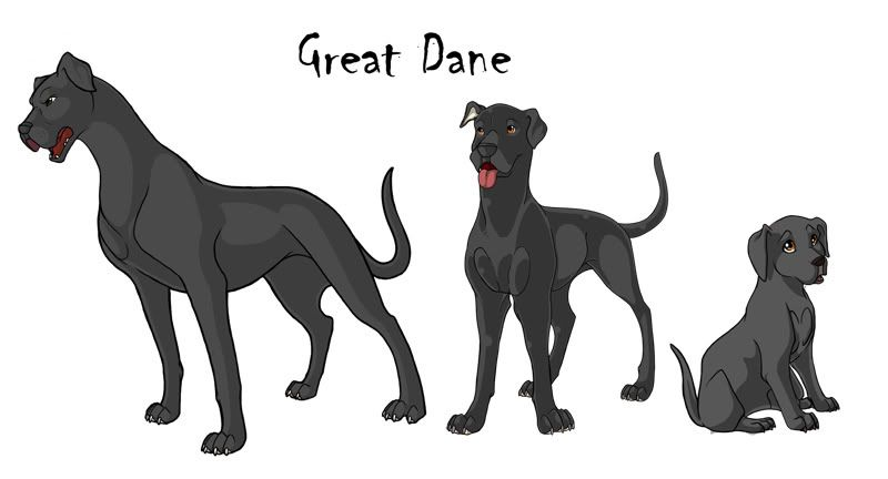 Great Dane Color Chart Great Dane Growth Chart Dartes Legend Of