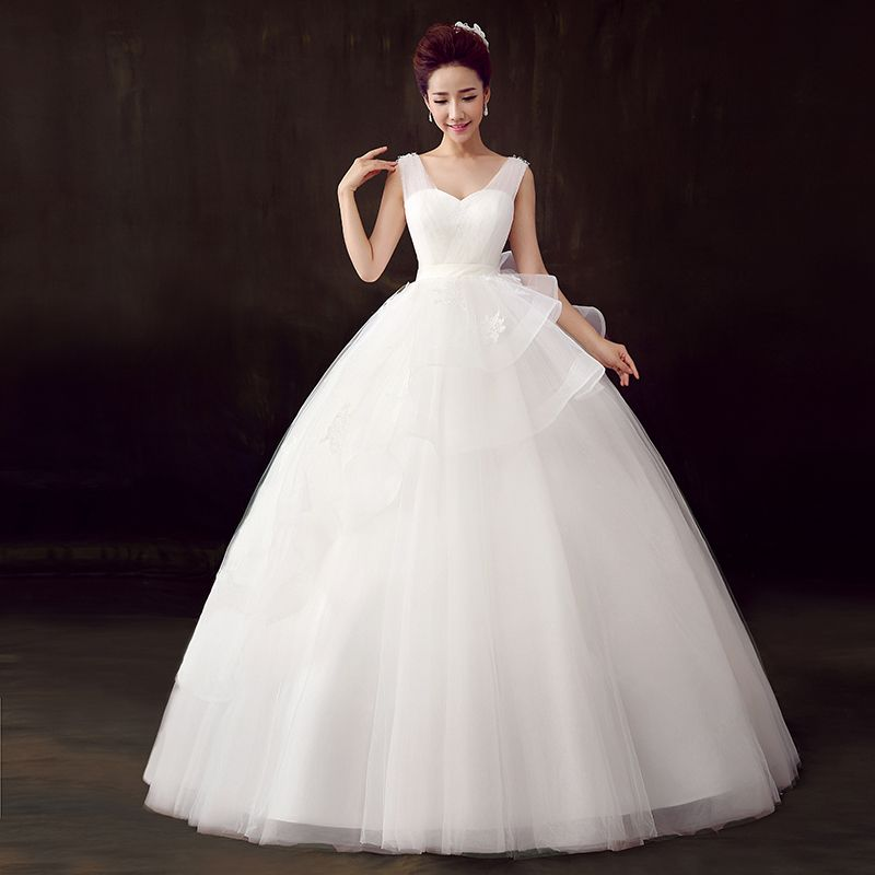 #New Arrival# A-Line V-Neck Straps Floor-LengthTulle Tiered Sexy Backless Wedding Dress http://www.clothing-dropship.com/luxury-2014-new-arrival-a-line-v-neck-straps-floor-length--tulle-tiered-sexy-backless-wedding-dress-g2328065.html