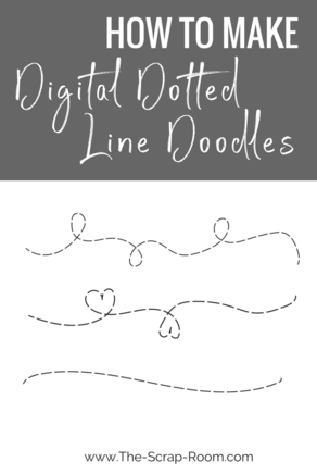 How To Make Digital Dotted Line Doodles Line Doodles Dotted Line How To Make Doodle