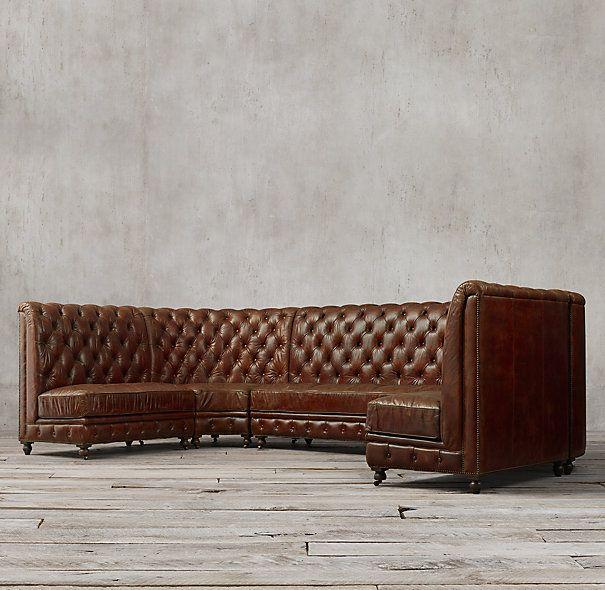 Delightful Tufted Banquette Seating | Kensington Leather U Banquette