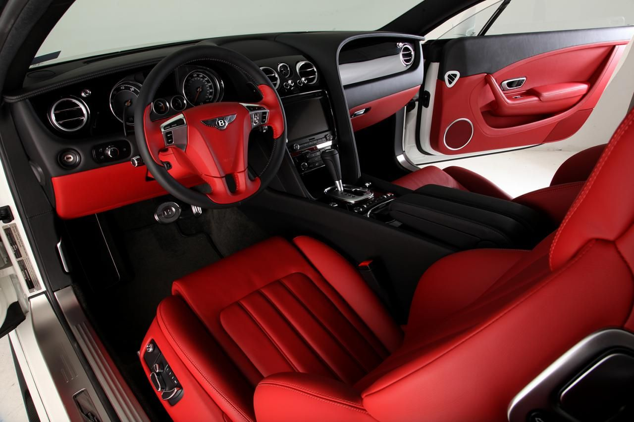 bentley continental gt red and black door panels and seats grey white auto addiction. Black Bedroom Furniture Sets. Home Design Ideas