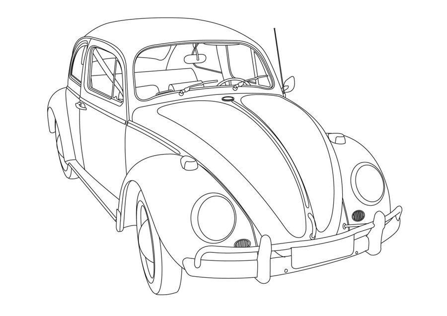 Fusca Furgao Voce Sabia Carros Para Colorir Desenhos De