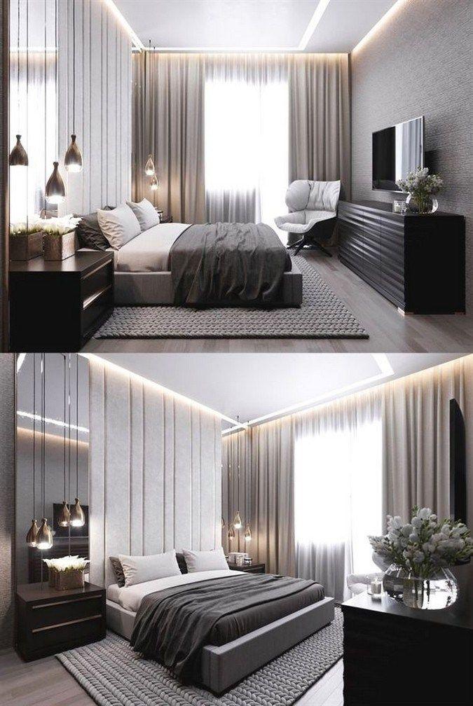 53 Modern Minimalist Bedroom Ideas Ide Kamar Tidur Desain Interior Ide Dekorasi Rumah Modern minimalist bedroom design ideas